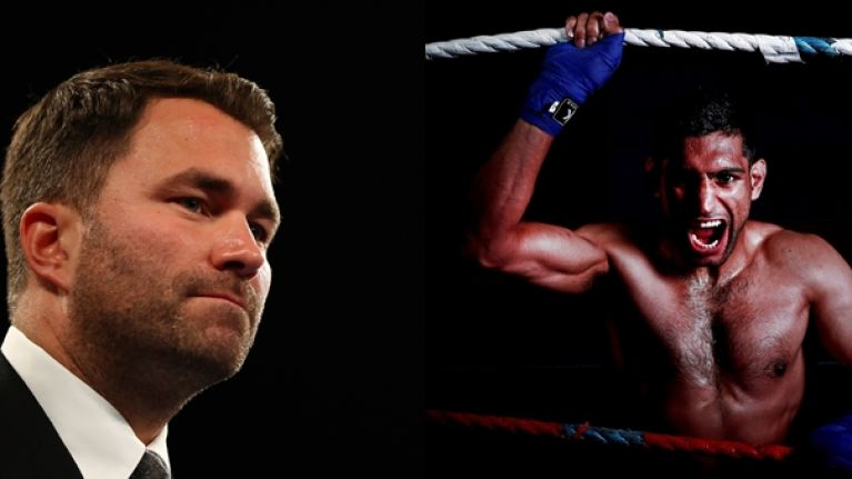 Eddie Hearn and Amir Khan bury hatchet as fighter agrees three-fight deal with Matchroom