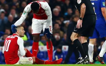 Jack Wilshere injured again after unfortunate incident
