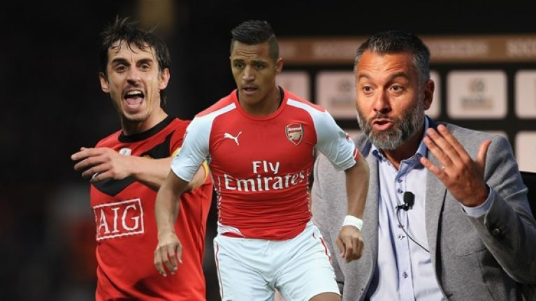 Gary Neville takes Guillem Balague to task over comments on Alexis Sanchez's options