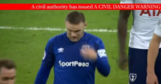 The horrifying moment a false missile threat interrupted Spurs vs. Everton