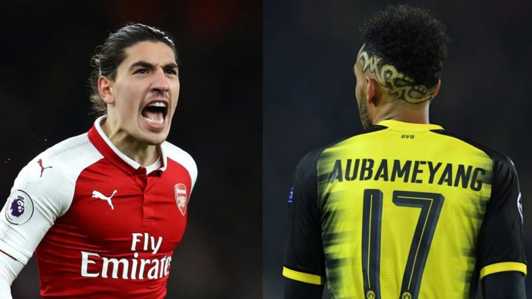 48459e9cd2e Hector Bellerin drops Twitter hint that Pierre-Emerick Aubameyang could be  on his way to