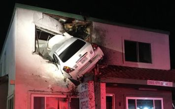 PICS: This car crash in California is quite unlike any we've ever seen