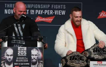 Dana White hints that he is in the process of stripping Conor McGregor of his title