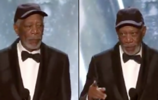 Morgan Freeman calls out 'heckler' during SAG Awards acceptance speech