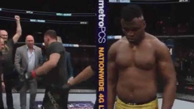 Stipe Miocic wouldn't let Dana White put his heavyweight belt around his waist