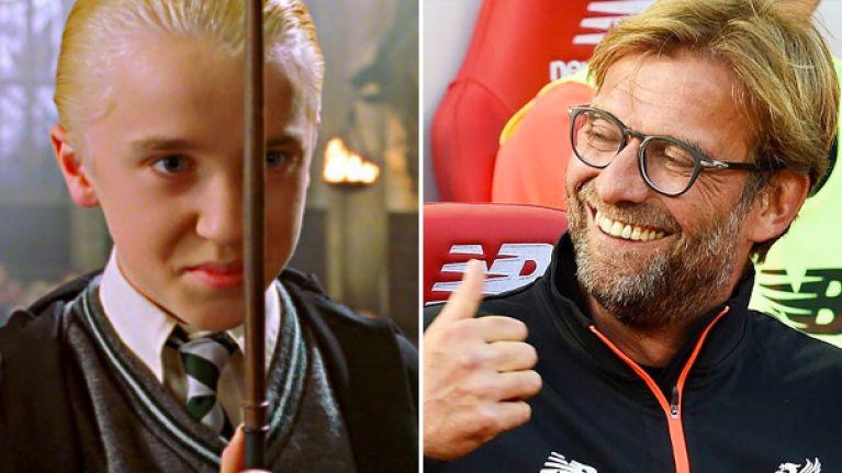 So Harry Potter's Draco Malfoy looks like Jurgen Klopp these days