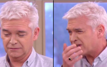 Hungover Phillip Schofield nearly vomits live on This Morning