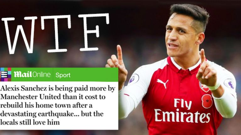 The Daily Mail out-Daily Mail themselves with breathtakingly awful take on Sanchez to Man United