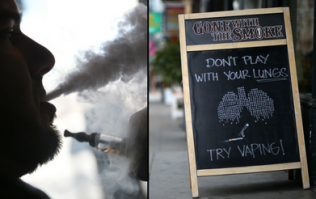 Smoking an e-cigarette could have a devastating impact on your health