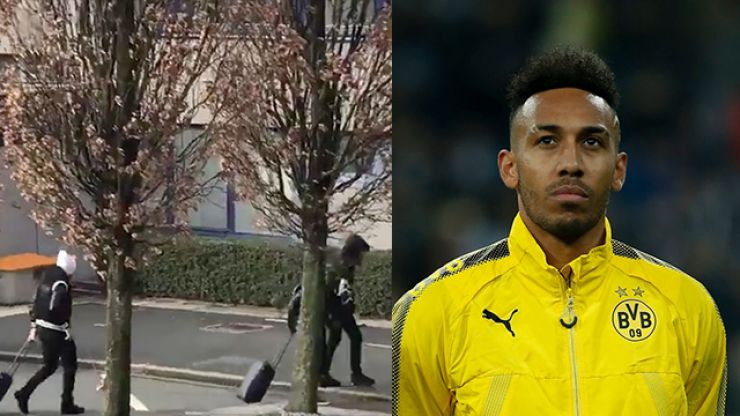 91ffb25b43c WATCH  Pierre-Emerick Aubameyang spotted at airport as Arsenal move nears