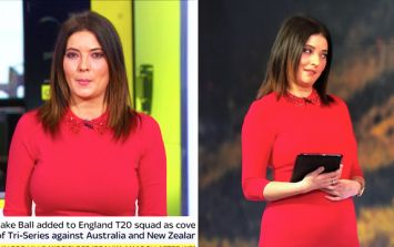 WATCH: George Boateng too busy complimenting Natalie Sawyer's dress to realise he's live on SSN