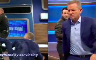 Jeremy Kyle floored during fight with guest over lie detector result