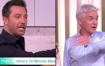 Phillip Schofield and Gino D'Acampo row live on air after he mocks Holly Willoughby