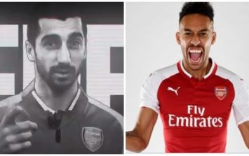 Arsenal use Mkhitaryan to announce Aubameyang transfer in bizarre video