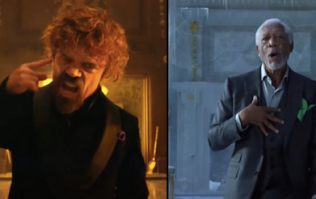 Morgan Freeman and Peter Dinklage having a rap battle is the funniest thing you'll see all day