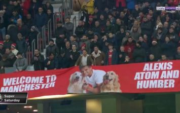 Banner of Alexis Sánchez's dogs unveiled by Man United fans was forcibly removed by stewards