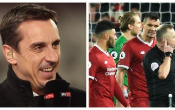 Gary Neville's commentary sparks outrage as Liverpool fans fume over late penalty call