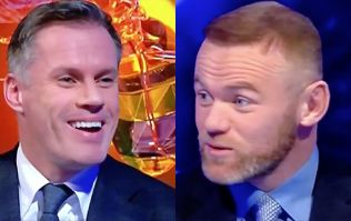 WATCH: Wayne Rooney mocks Jamie Carragher within seconds of MNF debut