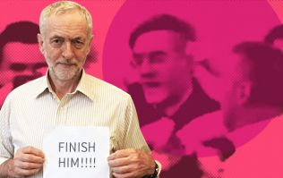 SHOCKING: Moment Corbyn thug uses FACE to attack Rees-Mogg supporter's FIST