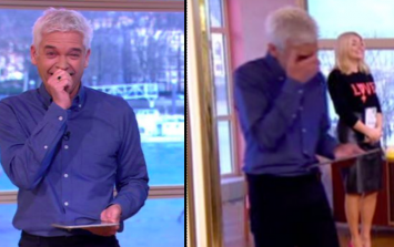 Holly Willoughby makes 'dirty' slip up live on This Morning for second day running