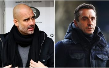 Pep Guardiola has responded to Gary Neville's criticism of his squad decision