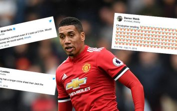 Chris Smalling takes a pasting from Man United fans after defeat at Newcastle