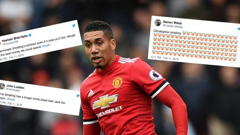 Chris Smalling Takes A Pasting From Man United Fans After Defeat At