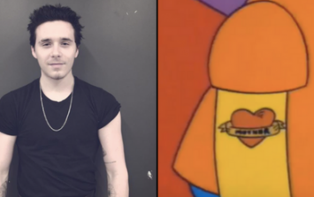 Brooklyn Beckham has a new tattoo and it's exactly like Bart Simpson's