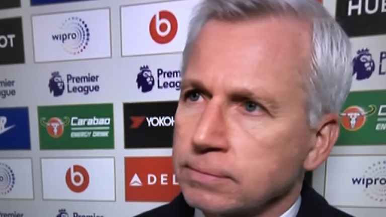 """Viewers react to """"ridiculous"""" question aimed at Alan Pardew"""