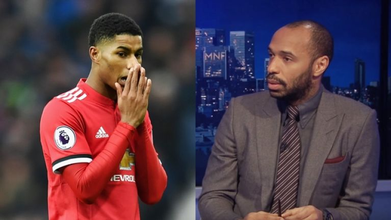 Thierry Henry has some career advice for Marcus Rashford
