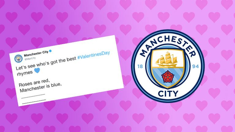 Manchester City S Request For Valentine S Day Poems Goes As Badly As
