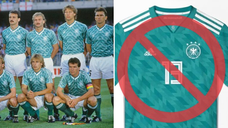 210c197fb7d Germany have tweaked their World Cup away kit - and now it s even more retro