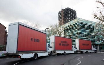 Speaking to the Grenfell campaigners that parked three billboards outside parliament