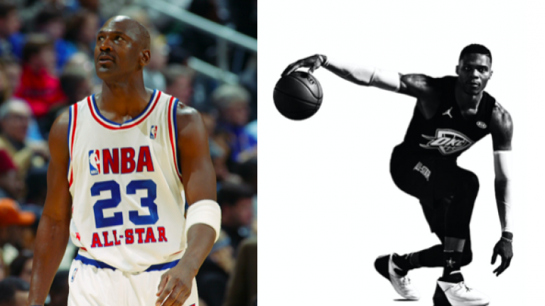 dd6e60726 Reeling back the years  The evolution of the NBA All-Star jersey ...