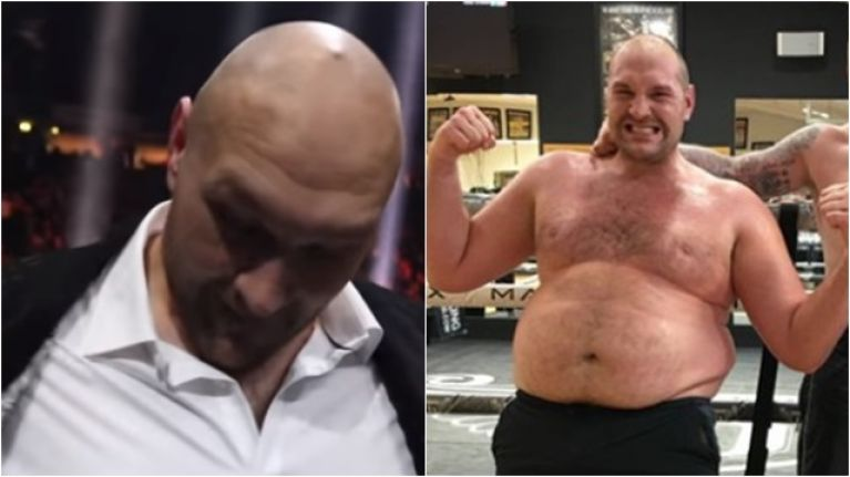 Tyson Fury looked in incredible shape at the Groves vs. Eubank Jr fight
