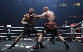 This is the exact moment that George Groves dislocated his shoulder