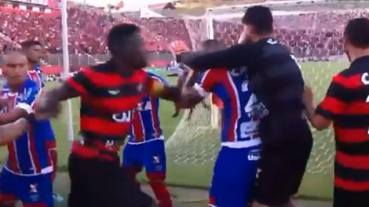 Punches fly in Brazilian match as ridiculous number of red cards are dished out