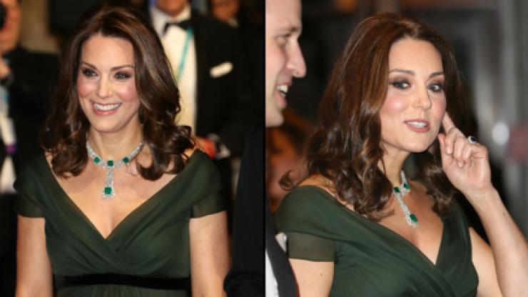 Pregnant Kate Middleton is being torn apart on social media for defying BAFTAs dress code