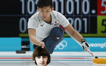Winter Olympic curling but with Beatles instead of stones