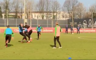 Feyenoord teammates have to be dragged apart in training ground altercation