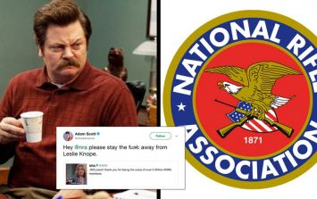 The cast of Parks and Recreation destroyed the NRA after it used a Leslie Knope gif on Twitter