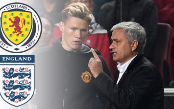 Jose Mourinho has given Scott McTominay advice on his international future