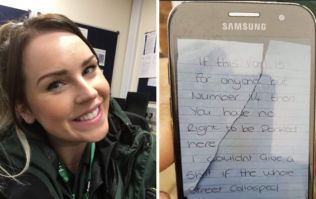 The woman who left an abusive note on an ambulance has now called another paramedic a 'p****'