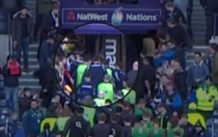 Owen Farrell was at the centre of a pre-match scuffle prior to Scotland defeat