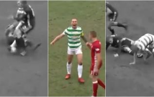 Scott Brown fully hulks up after ending up on wrong end of awful tackle
