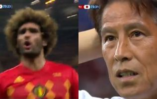 Japan manager's reaction to Marouane Fellaini goal really summed up the mood of his country