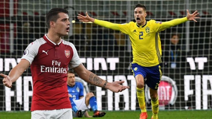 Celtic's Mikael Lustig reveals Sweden's plans to get Granit Xhaka sent off
