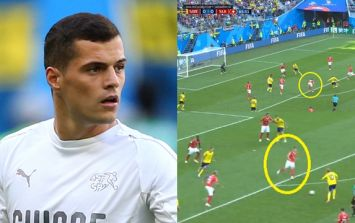 Granit Xhaka's role in Sweden's winning goal needs to be highlighted