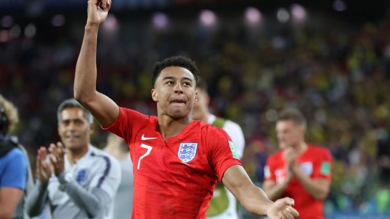 1f85cb39c Jesse Lingard celebrates England s World Cup win the only way he knows how