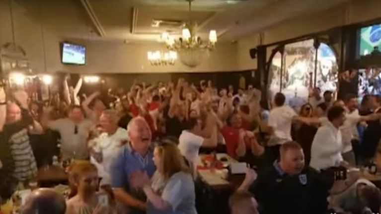 This video of England fans celebrating in pubs shows how much it meant to the country